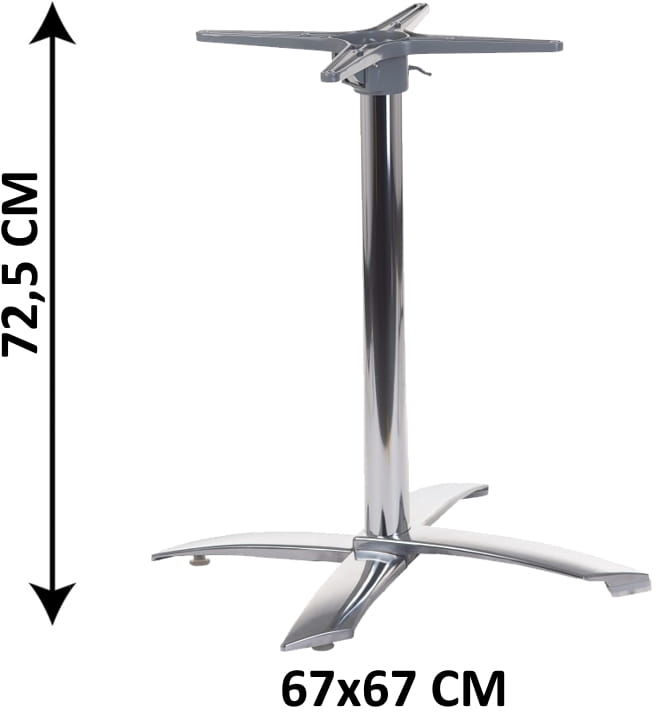 Aluminiowa podstawa stolika SH-7001/A, uchylna (stelaż stolika)