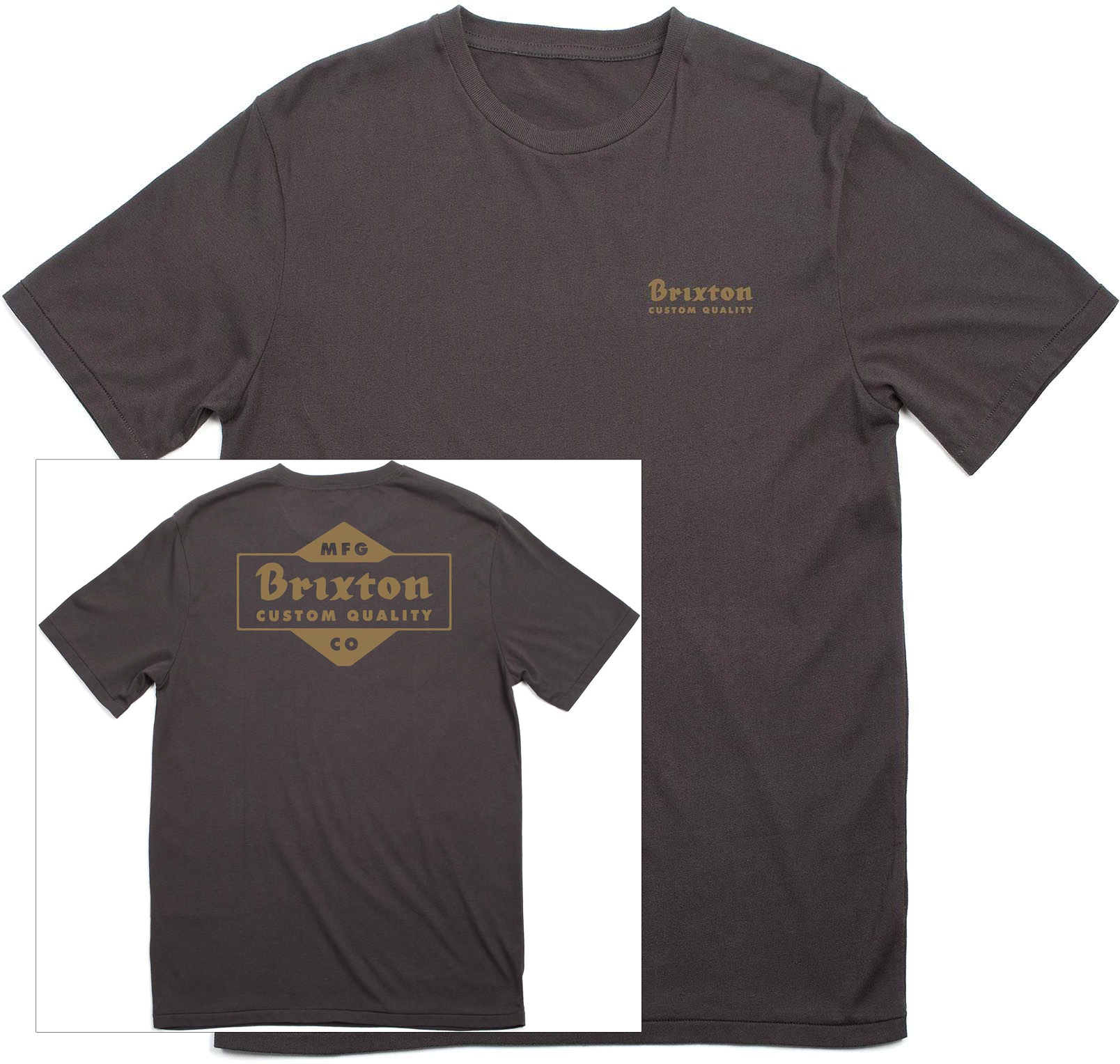 t-shirt męski BRIXTON Crowich Tee Washed Black