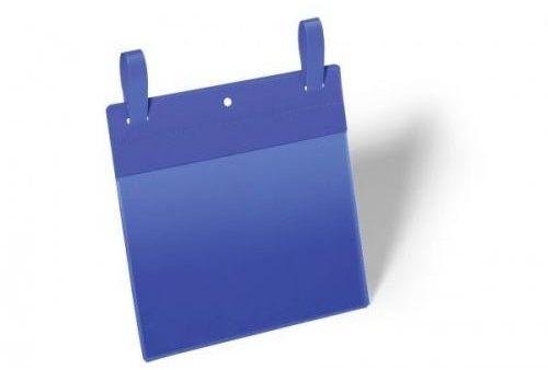 Kieszeń magazynowa z paskiem montażowym DURABLE 210x148mm niebieska (50szt.) 174907
