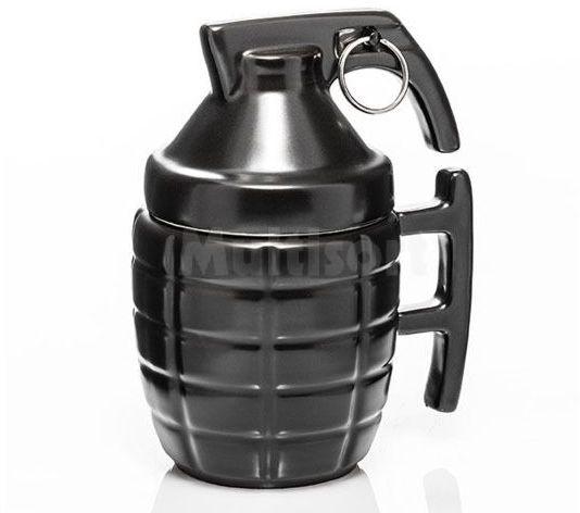 Kubek granat z zawleczką- czarny