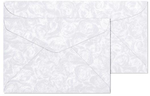 Koperty ozdobne Róże biały C6