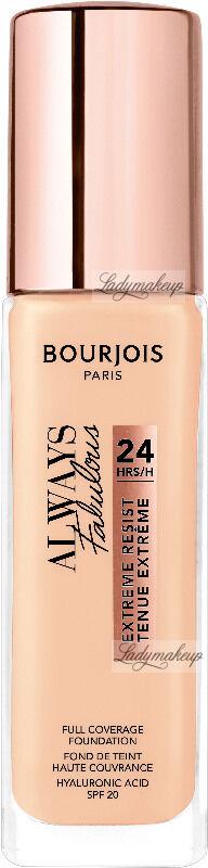 Bourjois - ALWAYS FABULOUS - 24H FULL COVERAGE FOUNDATION - Podkład kryjący - 30 ml - 100 - ROSE IVORY