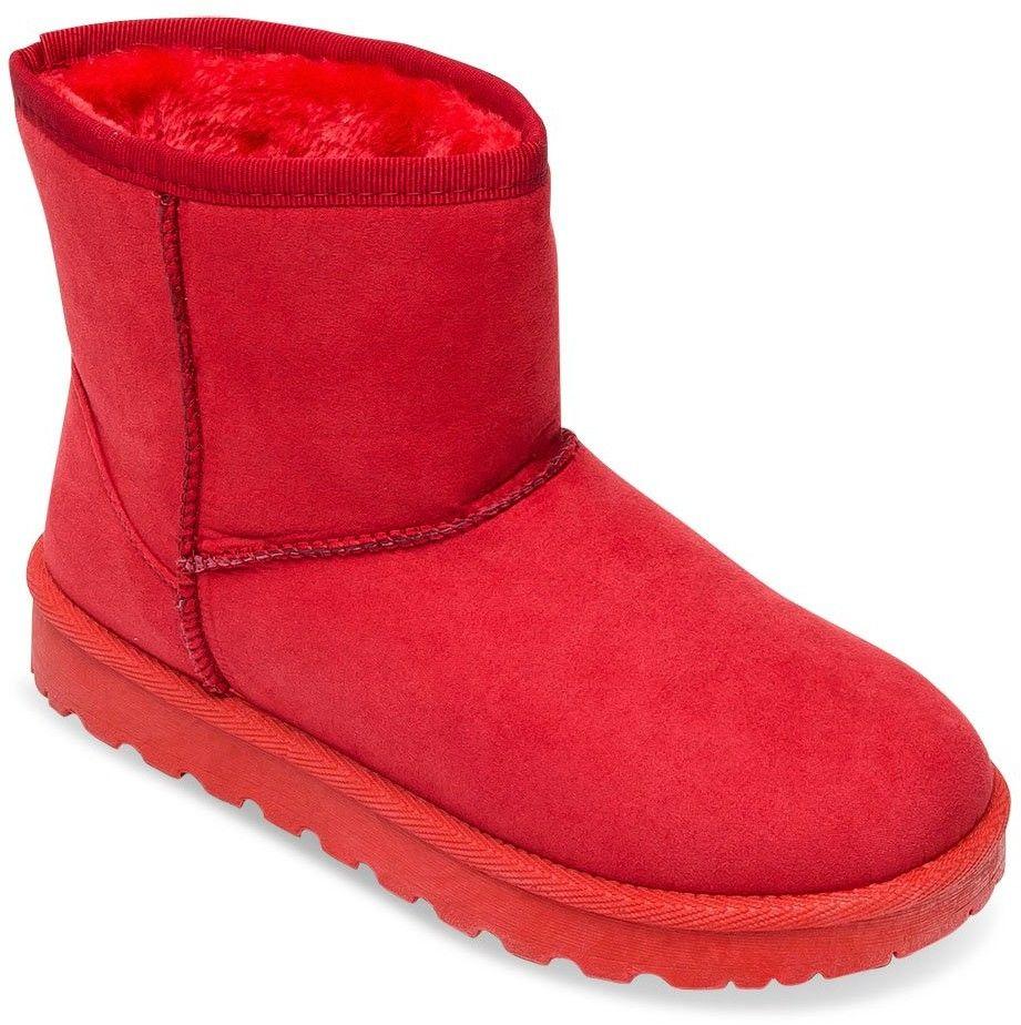 Śniegowce damskie Abloom HY-94 Czerwone