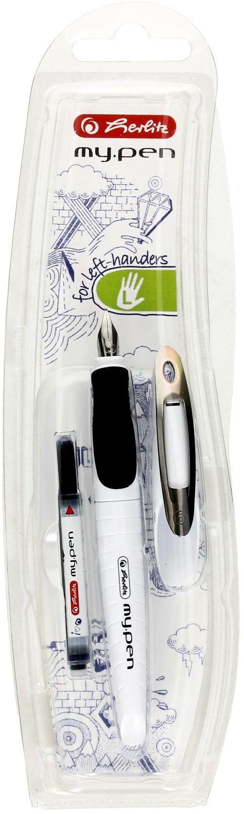 Pióro wieczne biało-czarne dla leworęcznych My Pen Herlitz 10999795