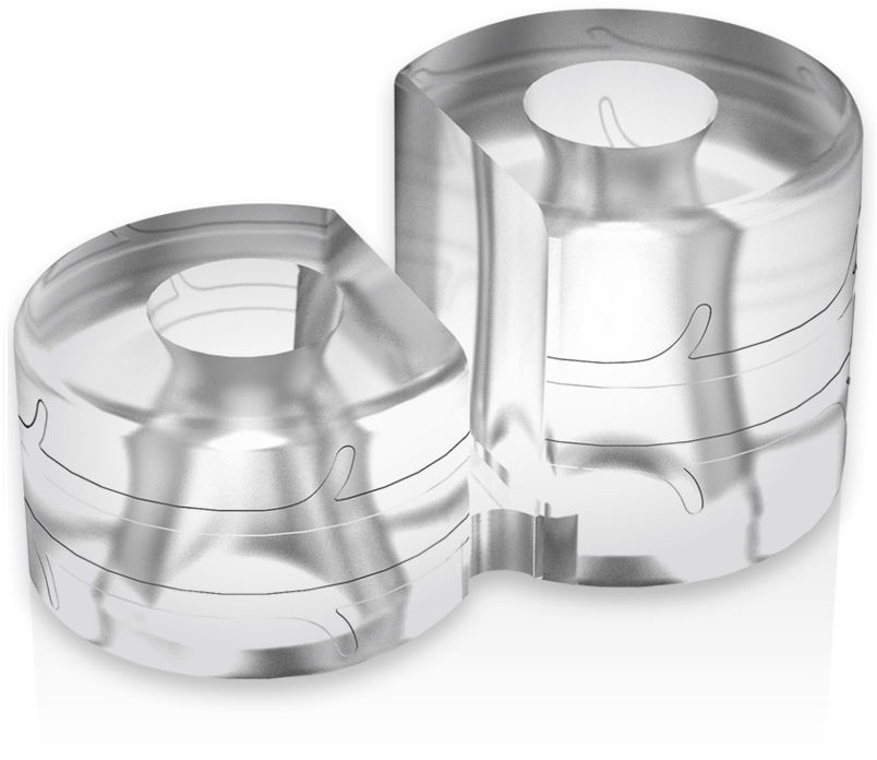 PoweRing Super Flexible Resistant Ring Double PR12 Clear