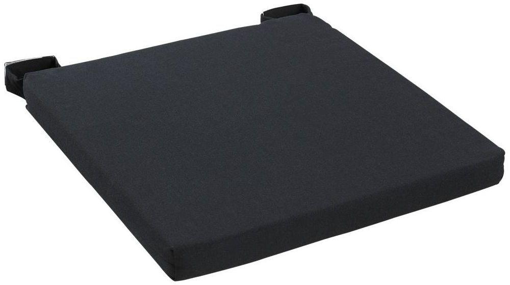 Poduszka na krzesło Joy czarna 40 x 40 x 4 cm Inspire
