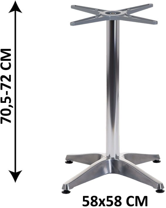 Aluminiowa podstawa stolika SH-7003-1/A (stelaż stolika)
