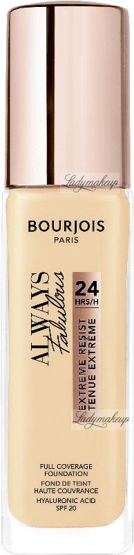 Bourjois - ALWAYS FABULOUS - 24H FULL COVERAGE FOUNDATION - Podkład kryjący - 30 ml - 110 - LIGHT VANILLA