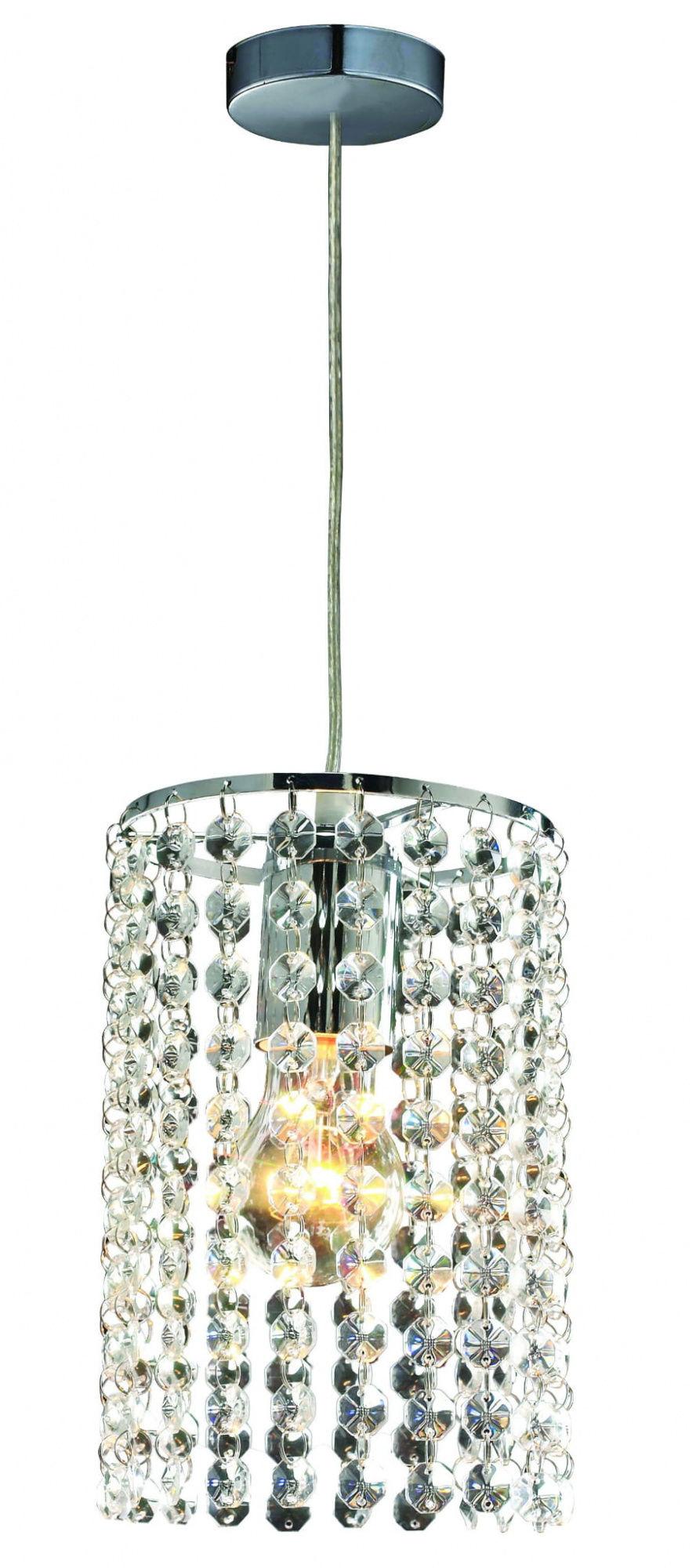 Lampa wisząca Bright Star LP-812/1P Light Prestige kryształowa oprawa w kolorze srebrnym
