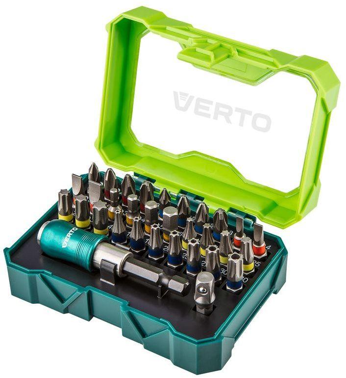 Zestaw bitów 32 szt., 25 mm - 4 x PH, 4 x PZ, 4 x SL, 4 x HEX, 7 x TX, 7 x TT + uchwyt magnetyczny 66H620