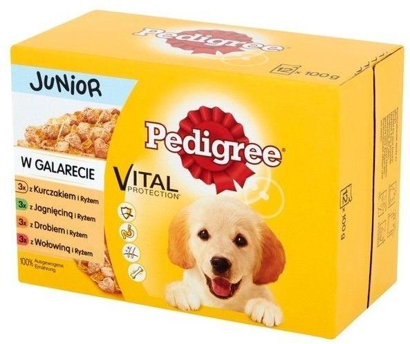 Pedigree Junior Mix smaków 12x100g