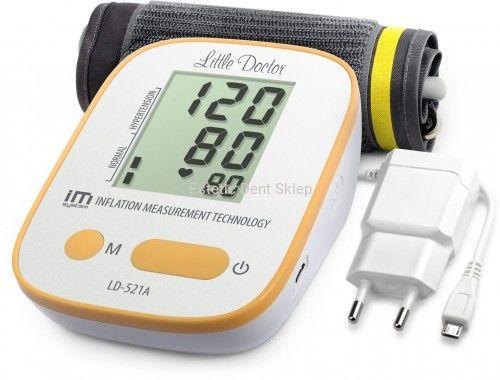 Little Doctor LD-521A - Ciśnieniomierz automatyczny naramienny z zasilaczem