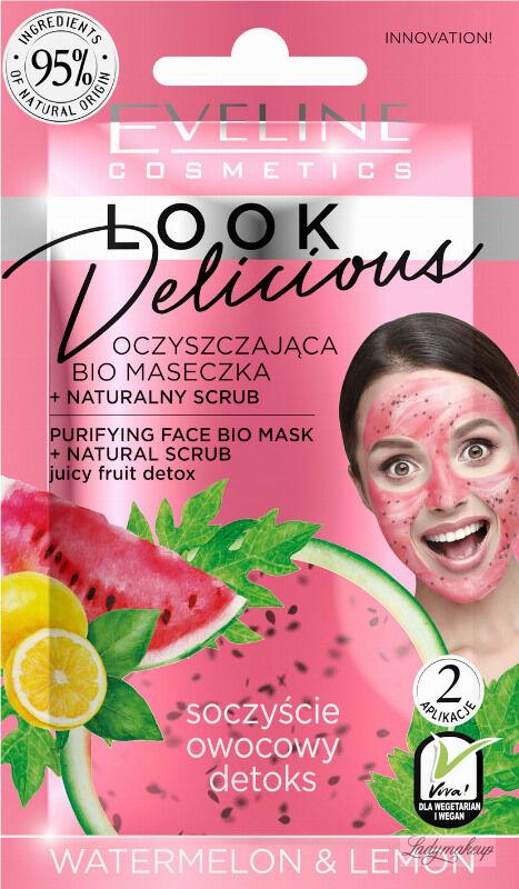 Eveline Cosmetics - Look Delicious - Oczyszczająca bio maseczka do twarzy + Naturalny scrub - Arbuz & Cytryna - 10 ml