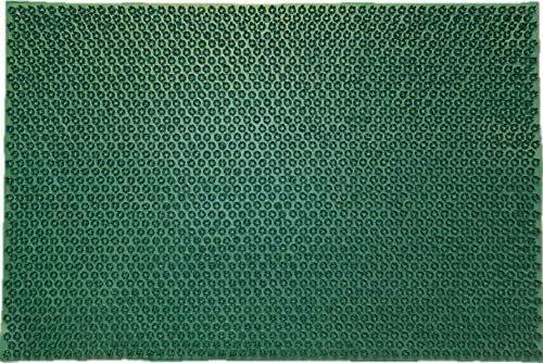 oKu-Tex wycieraczka gumowa mata do butów zielona trawa zielona odporna na warunki atmosferyczne do ogrodu na balkon weranda 40 x 60 cm