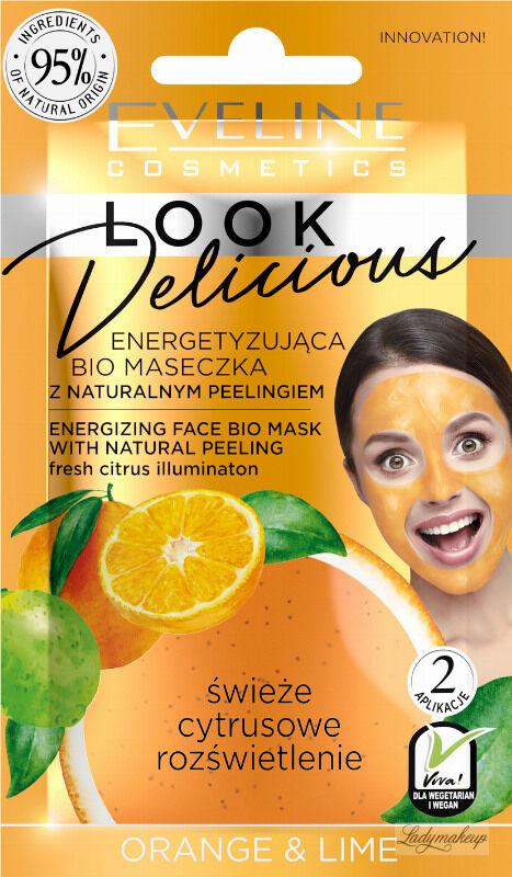 Eveline Cosmetics - Look Delicious - Energetyzująca bio maseczka do twarzy + Naturalny scrub - Pomarańcza & Cytryna - 10 ml