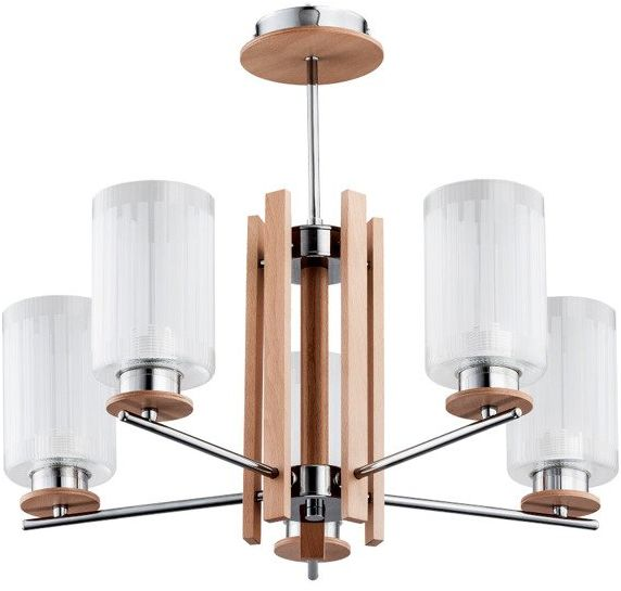 Lampa typu żyrandol AKETI V drewno 55cm