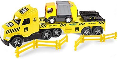 WADER 36440 Magic Truck głęboka załadunek z wózkiem na śmieci, kratkami i rampami, od 3 lat, ok. 79 cm