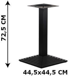 Podstawa stolika żeliwna SH-5014-6/B, 44,5x44,5 cm (stelaż stolika), kolor czarny