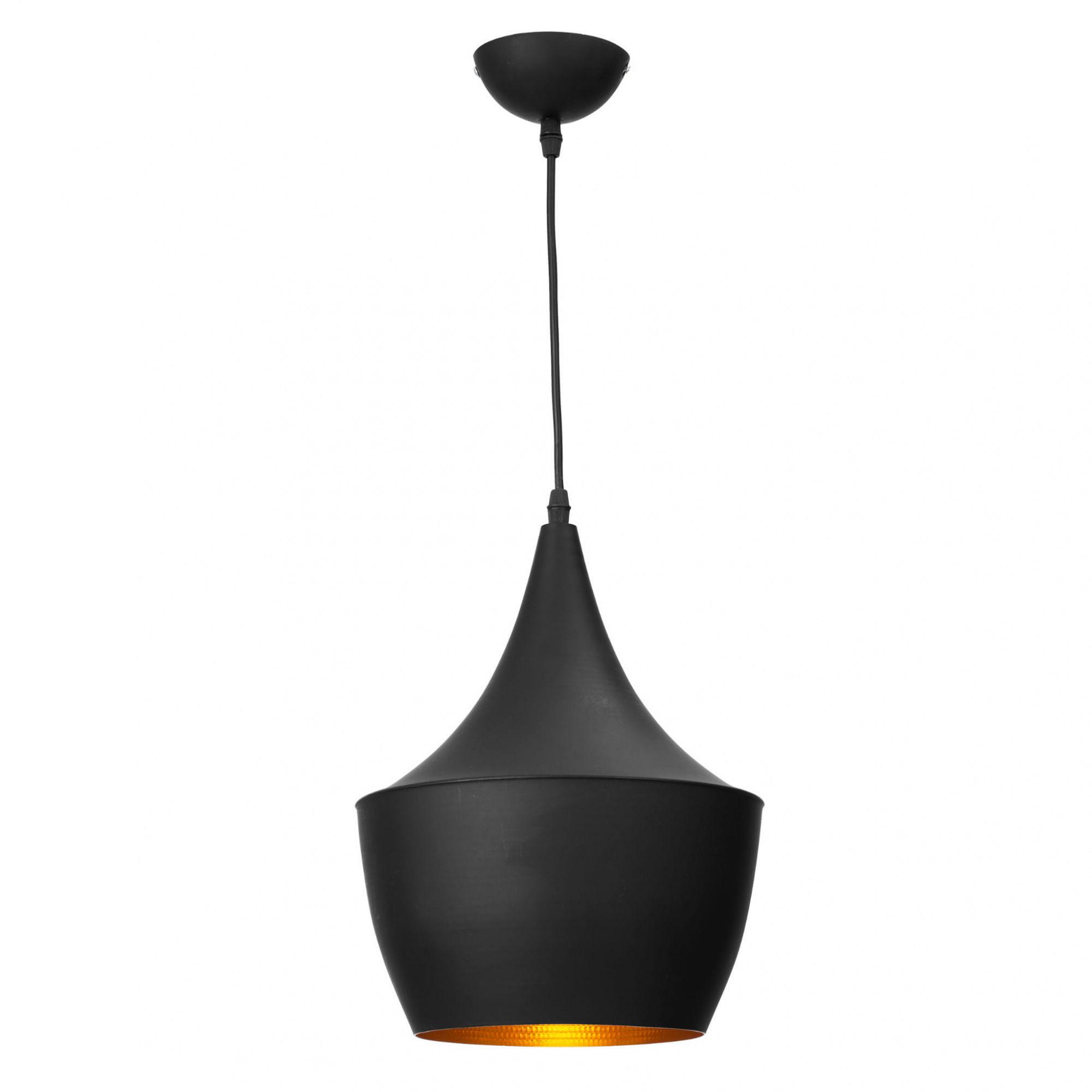 Lampa wisząca Caselle LP-42013/1P Light Prestige czarno-złota oprawa w stylu minimalistycznym