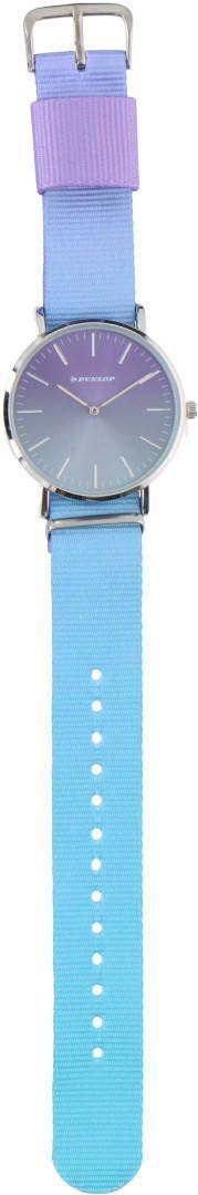 Zegarek wskazówkowy kolorowy uniwersalny Dunlop