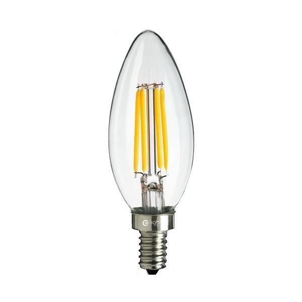 Żarówka FILAMENT LED E14 4W neutralna 4000K świeczka