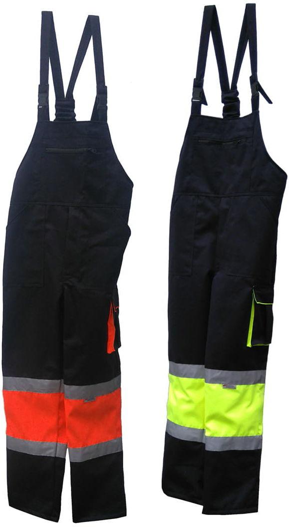 Spodnie robocze ogrodniczki HI-VIZ