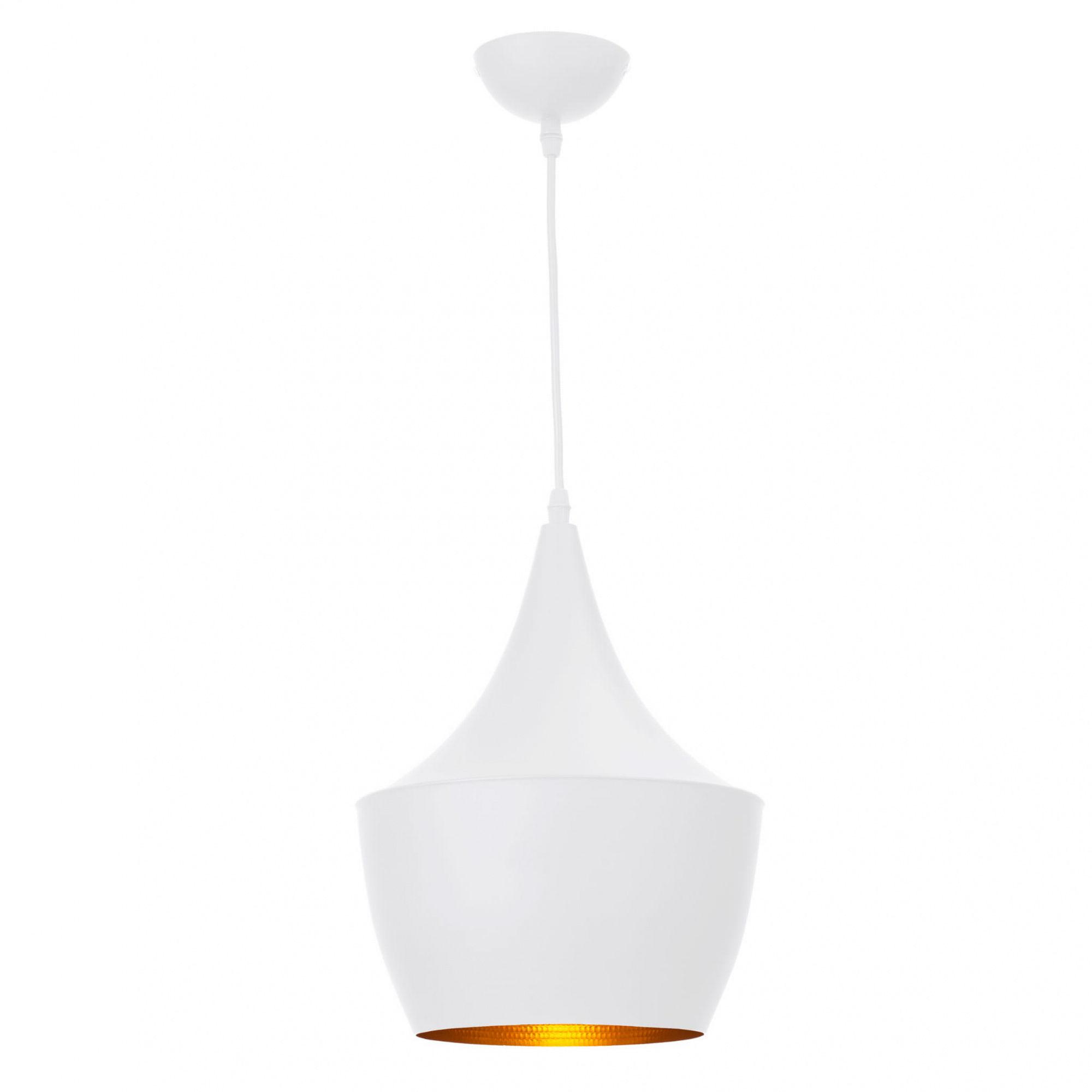 Lampa wisząca Caselle LP-42013/1P Light Prestige biało-złota oprawa w minimalistycznym stylu