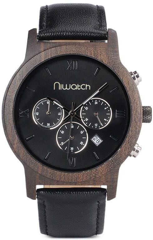 Zegarek drewniany Niwatch CHRONO - HEBAN - na pasku