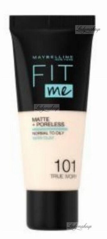 MAYBELLINE - FIT ME! Liquid Foundation For Normal To Oily Skin With Clay - Podkład matujący do twarzy z glinką - 101 TRUE IVORY