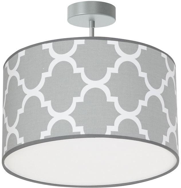 Milagro PIERRE GREY MLP4412 plafon lampa sufitowa szary abażur 1xE27 35cm