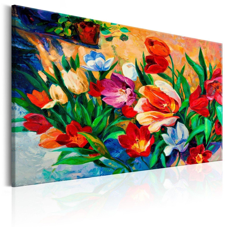 Obraz - sztuka kolorów: tulipany