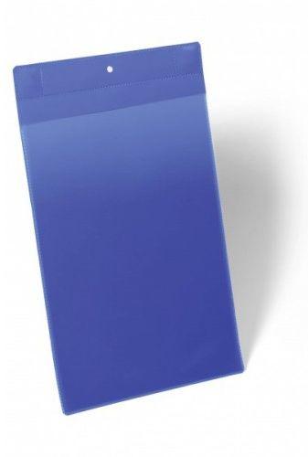 Kieszeń magazynowa magnetyczna neodymowa DURABLE 210x297mm, pionowa, niebieska (10szt.) 174707