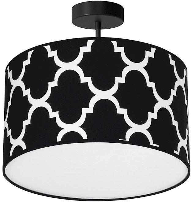 Milagro PIERRE BLACK MLP4417 plafon lampa sufitowa czarny abażur metal / tkanina 1xE27 35cm