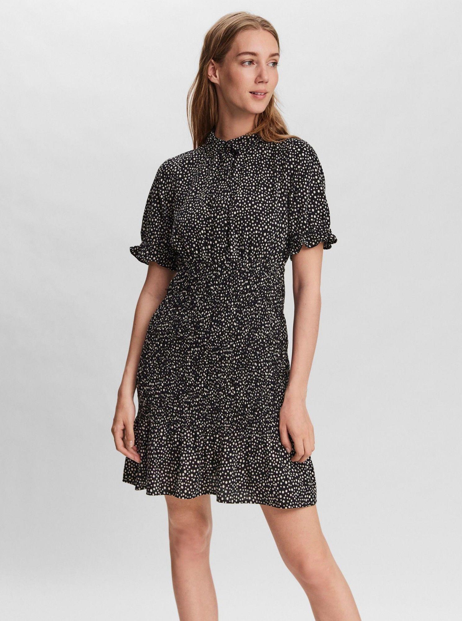 Vero Moda czarny koszulowa sukienka Ditche