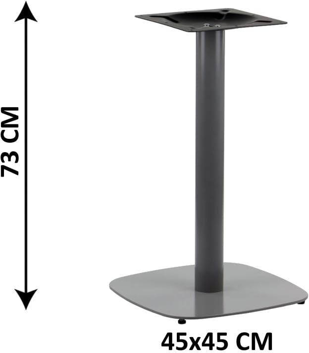 Podstawa stolika SH-3050-2/A, 45x45 cm, (stelaż stolika), kolor aluminium