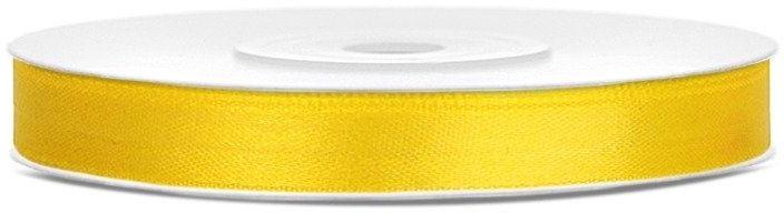 Tasiemka satynowa 6mm żółta 25m 1szt. TS6-084