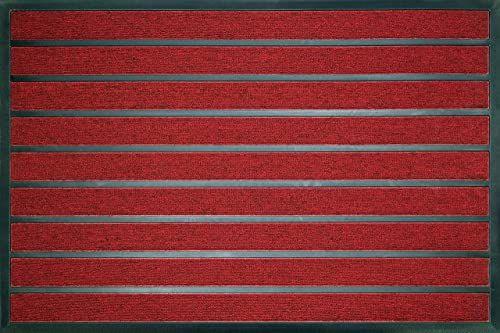 ID Matt combi'' chłonne, włókna syntetyczne, czerwone, 80 x 120 x 0,6 cm