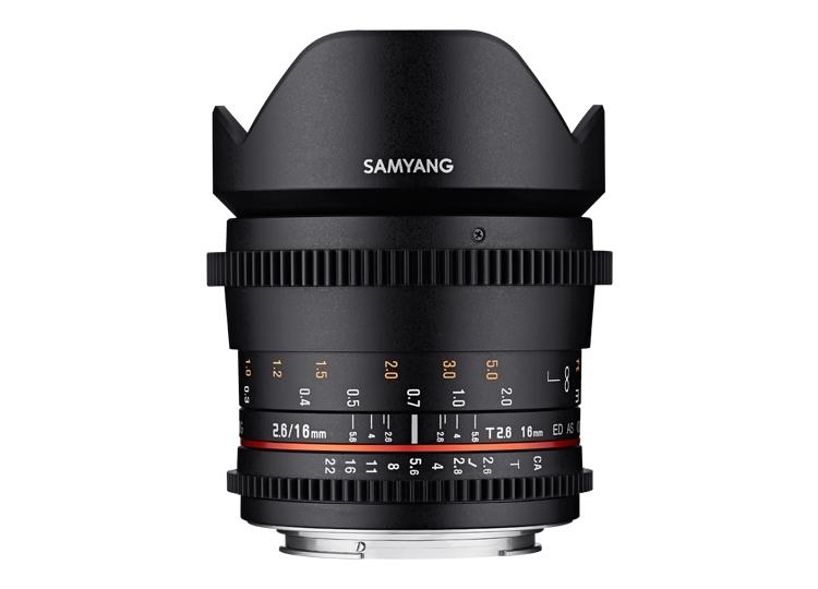 Samyang 16mm T2.6 VDSLR ED AS UMC - obiektyw stałoogniskowy do Canon EF Samyang 16mm T2.6 VDSLR ED AS UMC