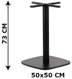 Podstawa stolika SH-3050-3/B, 50x50 cm, (stelaż stolika), kolor czarny