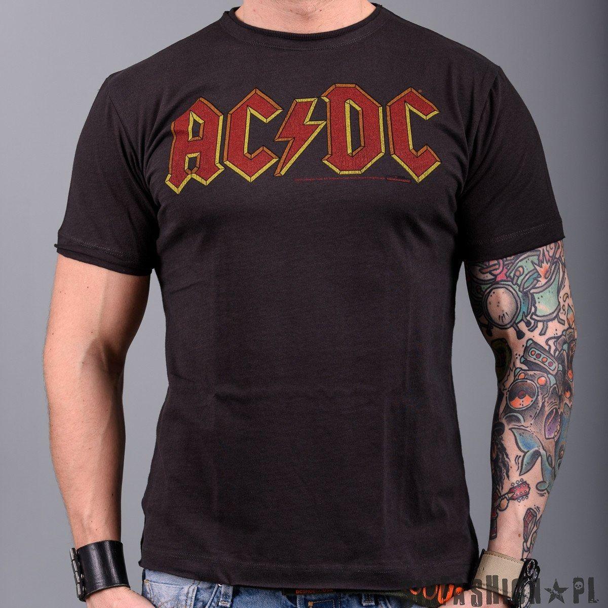 Koszulka amplified -ac/dc logo