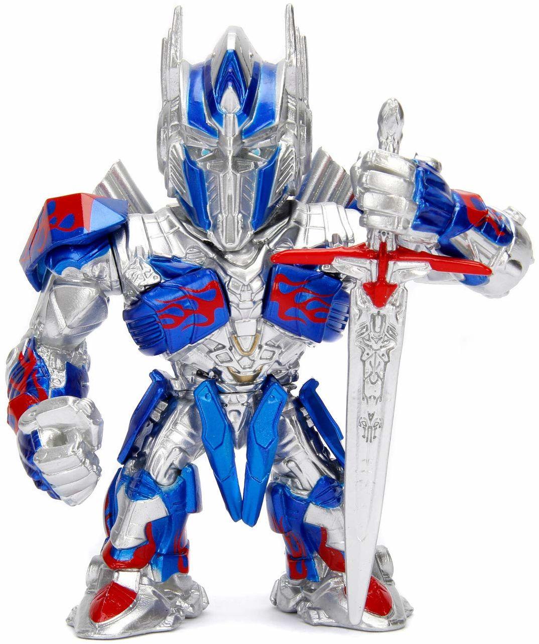 Jada Toys Transformers Optimus Prime Figur, 10 cm, Die-Cast, figurka kolekcjonerska, srebrny/niebieski, 253111002