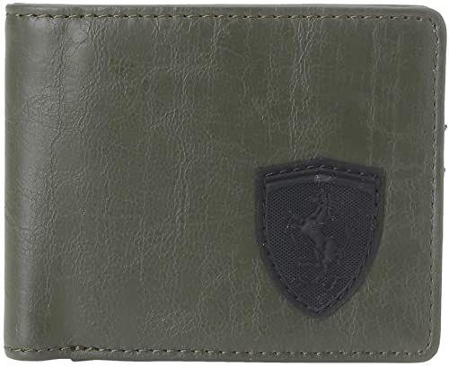 Puma Sf Ls M Wallet 053473-02; portfel unisex; 053473-02; zielony; One size EU (UK)