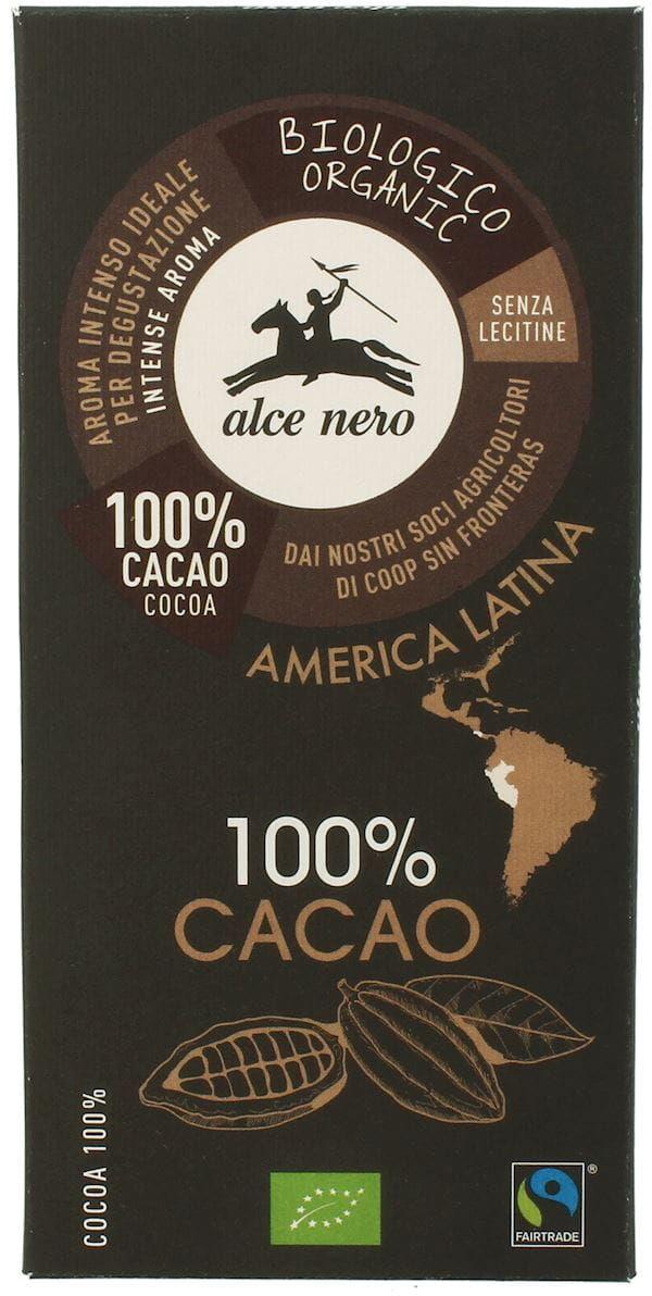 Tabliczka gorzka 100% kakao bio 50 g - alce nero