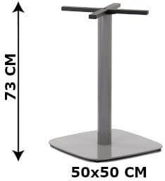 Podstawa stolika SH-3050-3/A, 50x50 cm, (stelaż stolika), kolor aluminium
