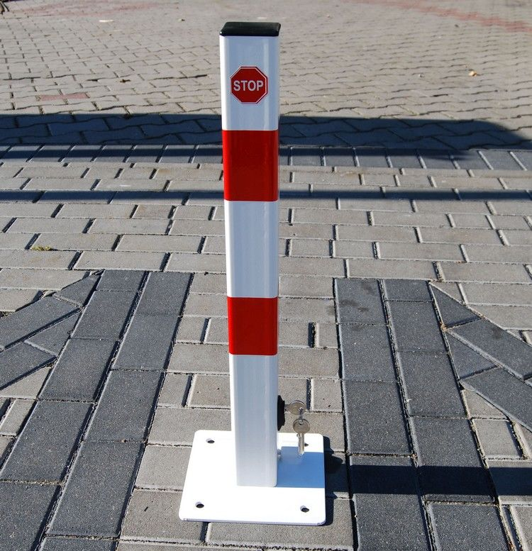 Blokada słupek zapora parkingowa I składana na klucz dolny