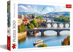 Trefl Praga, Czechy Puzzle 500 Elementów o Wysokiej Jakości Nadruku dla Dorosłych i Dzieci od 10 lat