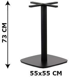 Podstawa stolika SH-3050-4/B, 55x55 cm, (stelaż stolika), kolor czarny