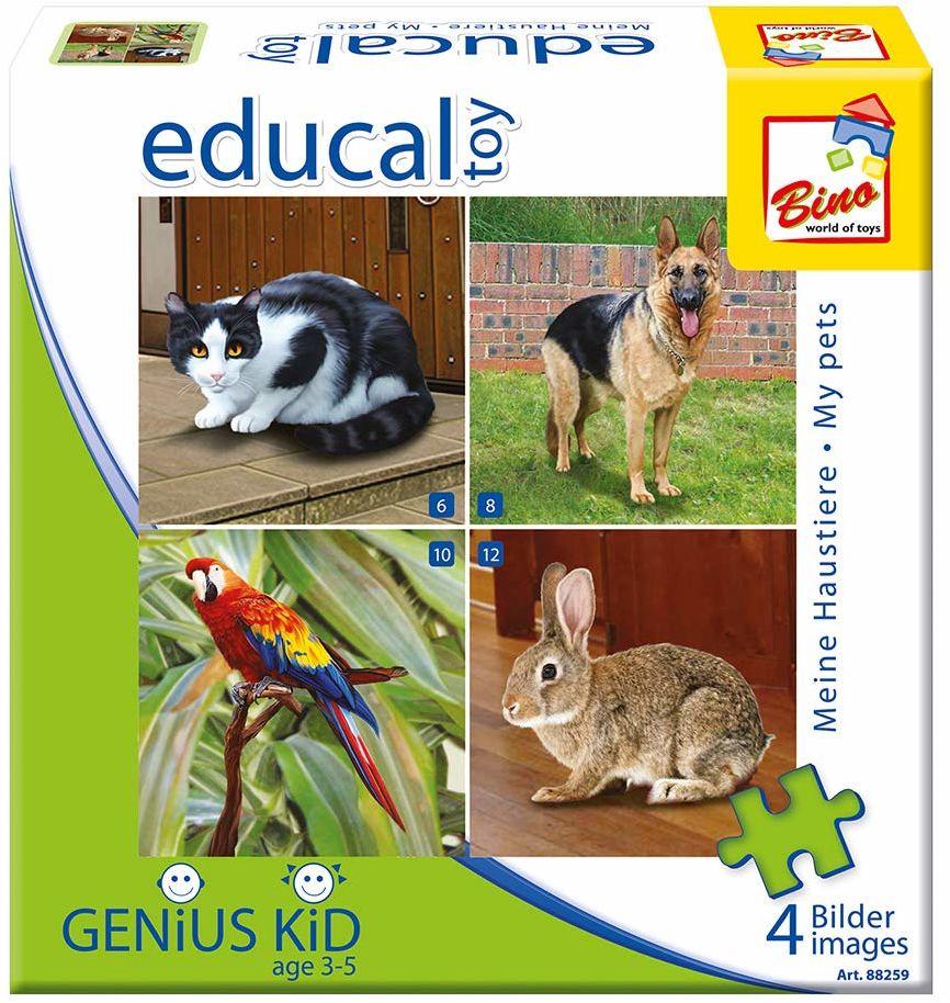 Bino Europe 88259 - puzzle - zwierzęta domowe