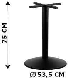 Podstawa stolika SH-4003-7/B, fi 53,5 cm (stelaż stolika), kolor czarny