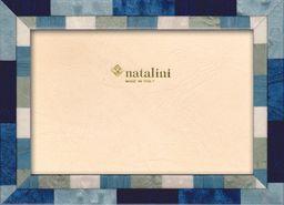 Natalini Marquetry ramka na zdjęcia wykonana we Włoszech, tulipan, niebieska, 12 cm x 18 cm